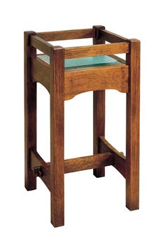 Shop for Stickley Tile Top Stand, and other Accents Accessories at Art Sample Home in Saginaw, MI. Available in Canyon Copper, Meadow Green, Ocean Blue or Twilight Gray tile. Craftsman Style Furniture, Mission Style Furniture, Craftsman Interior, Quality Furniture, Diy Furniture, Dog Table, Mission Oak, Diy Wood Projects, Solid Oak