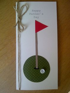 Golf Fathers Day Card- bday card for dad Bday Cards, Birthday Cards For Men, Card Making Inspiration, Making Ideas, Daddy Day, Fathers Day Crafts, Scrapbook Cards, Scrapbooking, Masculine Cards