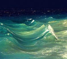 ocean under the starry sky.