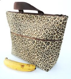 Lunch Bag Tote Insulated Large in Leopard by chantalmarieliving, $29.50