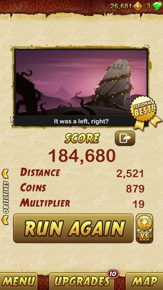 I got 184680 points while escaping from a Giant Demon Monkey. Beat that! http://bitly.com/TempleRun2iOS
