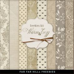 Far Far Hill: New Freebies Kit of Backgrounds - Warm and Cozy