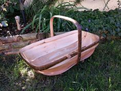 Sussex Style Trug Basket Hazel and Willow by CottageCoppicing, £45.00