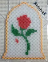 Beauty and the Beast Enchanted Rose by PerlerPixie