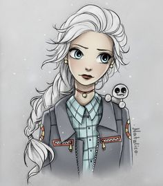 Modern Elsa by natalico on @DeviantArt