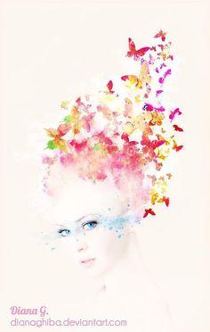 Inspiring Digital Illustrations by Diana Ghiba http://www.cruzine.com/2013/08/29/inspiring-digital-illustrations-diana-ghiba/