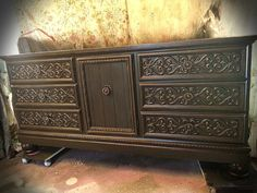 SOLD Painted Vintage Dresser Buffet by CottonwoodRanch on Etsy