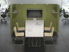 Table connectée Let's Meet avec cloisons acoustiques