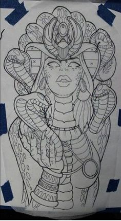 Tattoo Sketch - tatoo - Tattoo World Tattoo Design Drawings, Tattoo Sketches, Art Sketches, Tattoo Designs, Tattoo Ideas, Tattoo Outline Drawing, Medusa Tattoo Design, Medusa Kunst, Medusa Art