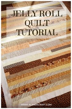 Jelly Roll Quilt scrap buster quilt made from left over scraps. Quick and easy jelly roll quilt tutorial.