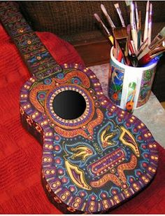 hand painted ukulele. Love it! Going to put some soulful art in mine
