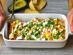 Skinny chicken enchiladas!! Yum!! Very good!