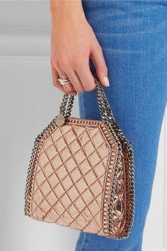 Stella McCartney   The Falabella tiny metallic faux patent-leather shoulder bag   NET-A-PORTER.COM