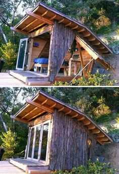 Compact living at its best, this seven by nine foot cabana designed by Alex Wyndham is called Hawk House. Would this make a great home office? on The Owner-Builder Network  http://theownerbuildernetwork.co/wp-content/blogs.dir/1/files/sheds-1/insert-1.jpg