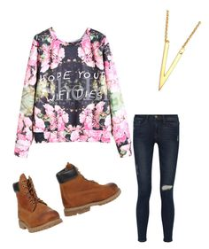 """""""✌️"""" by safiyanumber on Polyvore featuring Frame Denim, Argento Vivo and Timberland"""