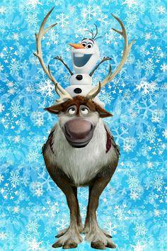 Sven and Olaf Disney Olaf, Disney Frozen Elsa, Olaf Frozen, Disney Art, Disney Pixar, Frozen Wallpaper, Winter Wallpaper, Cute Disney Wallpaper, Cute Cartoon Wallpapers