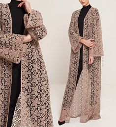 modest style INAYAH - Versatility and Style - An outerwear essential to wear over your midi, abaya, maxi skirt or modest trousers. Pair with our Soft Crepe Hijabs for a high-fashion stan Islamic Fashion, Muslim Fashion, Modest Fashion, Fashion Dresses, Maxi Dresses, Trendy Fashion, Abaya Designs, Abaya Style, Abaya Fashion