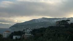 Neve a Scutolo e neve in Penisola Sorrentina. www.ilmegliodisorrento.com