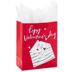 "Happy Valentine's Day Medium Gift Bag With Tissue, 9.5"""