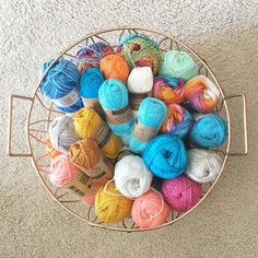 Received a squishy basketful of heaven from @deramores yesterday! Can't wait to dig in ☺️ #yarnaddict