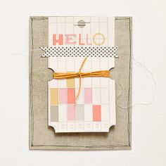 great idea to use that Cosmo Cricket journal tag book