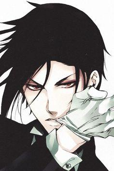 Image via We Heart It https://weheartit.com/entry/166859312 #blackbutler #boy #cool #demon #manga #sebastianmichaelis #kuroshitsuju #️anime