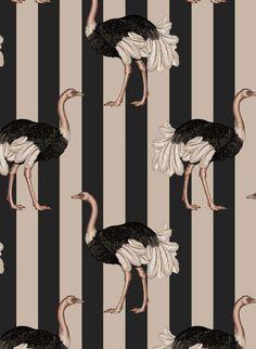 PRIDE Wallpaper Blush / Off Black * Wonderwall * The Inner Interiorista Tier Wallpaper, Wall Wallpaper, Pattern Wallpaper, Fabric Design, Pattern Design, Print Design, William Morris, House Of Hackney Wallpaper, Animal Print Wallpaper