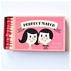 Matchbox by Ingela Parrhenius - Sweet Matchbook, would be great a wedding invite #weddinginvite #weddingdiy #savethedate