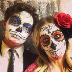 Dia de Los muertos -- day of the dead makeup #candyskull #costume