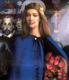SANTA ISABEL DE PORTUGAL – Filha do rei de Aragão (Espanha), Isabel nasceu provavelmente em 1270, em Saragoça ou em Barcelona. Era sobrinha-neta de Santa Isabel da Hungria. Casou com o rei de Portugal, D. Dinis, do qual teve dois filhos.  Após a morte do marido, entregou-se à vida religiosa e caritativa, como terceira franciscana, junto ao mosteiro de Santa Clara, em Coimbra.