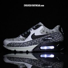 "NIKE AIR MAX 90 ""PROJECT 4"" CUSTOMS WITH WHITE LIGHTS"