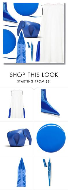 """My Blue"" by drigomes ❤ liked on Polyvore featuring Roksanda, Balenciaga, Loewe, Christian Louboutin and L.A. Girl"
