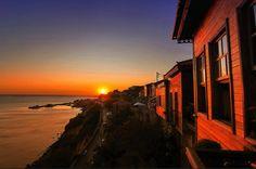 Winter sunset in Lesvos (aka Mytilini Island) ~