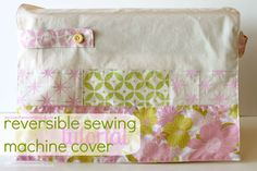 Reversible Sewing Machine Cover Tutorial with Martha Stewart Crafts!