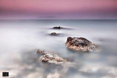 "Beautiful dreamlandscape. ""A long exposure of St Thomas beach ( Karavados, Kefalonia)"""