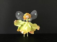 Uniquefairyboutique flower fairy gift for her handmade