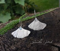 Excited to share the latest addition to my #etsy shop: Silver ginkgo leaf earrings, fine silver earrings, real leaf earrings, sky blue topaz earrings, big ginkgo earrings, big dangle earrings #jewelry #earrings #silver #wedding #topaz #plantstrees http://etsy.me/2i8tONZ