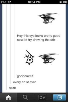 This always happens ad especially with noses, I'll draw one side and the other will look horrible