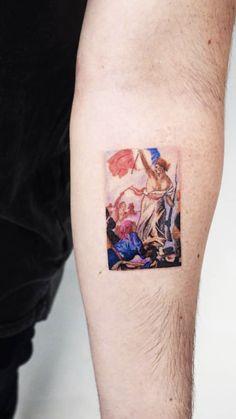 Body Art Tattoos, Tatoos, Pastel Tattoo, Artistic Tattoos, Single Needle Tattoo, Orange Trees, Mesh Tops, Opus, Two Best Friends