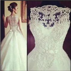 Sleeveless Crystal Ball Gowns Wedding Dresses