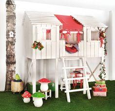 森の隠れ家風ベッド : 子供が憧れそうな形のベッド10点まとめ【海外のキッズルーム(子供部屋)から】 - NAVER まとめ