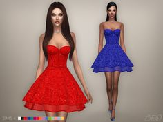 Cristina collection - Baby-doll dress for The Sims 4 by BEO