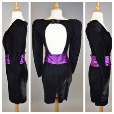The Cold Hearted Snake 80s Prom Black Velvet by RIPandROSE