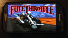 Some Game Emulation on Android - Full Throttle running through ScummVM.
