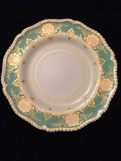 Set Of Eight Royal Worcester Green Hatfield Dinner Plates Dated 1954 #RoyalWorcester