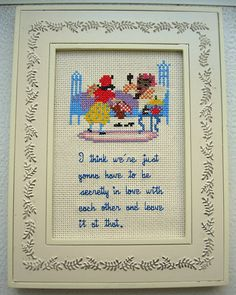 Little Red Riding Hood - Royal Tenenbaums Secret Love Quote - Framed Cross Stitch.