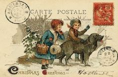 Vintage style Red Cross charity Christmas card - see our top 40 charity Christmas cards here! http://www.charitychoice.co.uk/blog/the-40-best-charity-christmas-cards/103