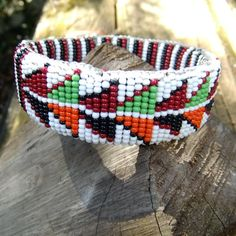 Native American Seed Bead Bracelet Doublesided by SunStateVintage, $44.00
