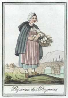 Costumes de Différent Pays, 'Paysanne de L'Angoumois' Jacques Grasset de Saint-Sauveur (France, 1757-1810) Labrousse (France, Bordeaux, active late 18th century) France, circa 1797