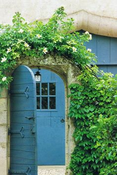 Blue doors. Camarque countryside, Southern France